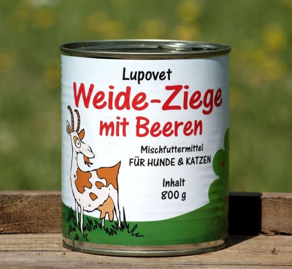LupoVet Pure Weide-Ziege mit Beeren 800g