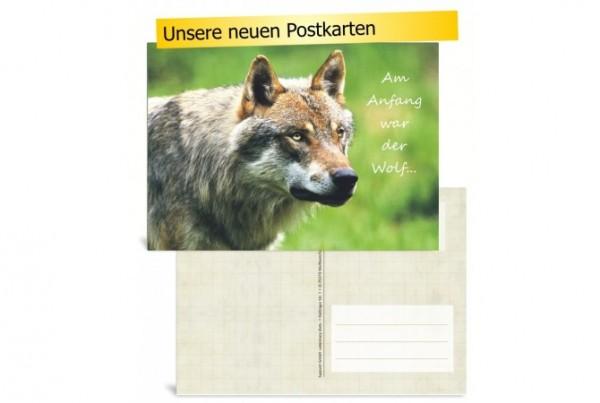 LupoVet-Postkarte - Am Anfang war der Wolf